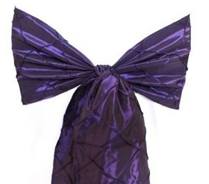 100%polyester pintuck taffeta chair sash for hotel