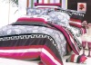 100% Cotton Peach Printed Bedding Sets bed Sheet Duvert cover 4pcs