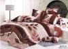 100% Cotton Peach Printed Bedding Sets ed Sheet Duvert cover 4pcs
