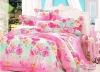 100% Cotton Peach Printed Bedding Sets green bed Sheet Duvert cover 4pcs
