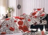 100% Cotton Peach Printed Bedding Sets red bed Sheet Duvert cover 4pcs