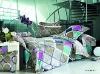 100% Cotton Satin Reactive Printed 4pcs bedding sets