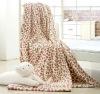 100% Microfiber Printe Fleece Blanket With Leopard