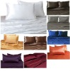 100% Mulberry Silk Charmeuse 4pc Fitted Sheet Set Queen 16.5mm-28mm Multi Color