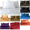 100% Mulberry Silk Charmeuse 4pc Fitted Sheet Set Twin Extra Long 16.5mm-28mm Multi Color