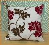 100%Polyester Classical&Elegant fake linen double color flocking cushion for department