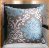 100%Polyester Classical&Elegant poly-silk double color flocking cushion for department