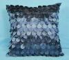 100%Polyester Fancy&Elegant quilt grape pintuck taffeta cushion for department
