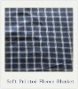 100% Polyester Grid Pattern Printed Blanket Fleece