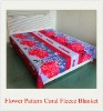 100% Polyester New Design Printed Coral Fleece Blanket/Fabric
