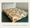 100% Polyester Soft Printed Cheap Coral Fleece Blanket