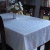 100% Polyester Spun Jacquard tablecloth