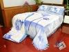 100% Polyester flowers Printed blanket comforter set