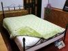 100% Polyester flowers jacquard blanket comforter set