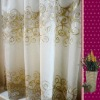 100% Polyester linen-look Embroidery Curtains drapery