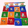 100% colourful printed square towel