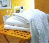 100% cotton 16s white color household bath towel