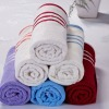 100% cotton 21s/2 satin striped hand towel