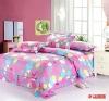 100% cotton 4 pieces printed bedding set