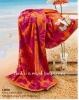100% cotton Jacquard velour beach towel with border