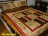 100 cotton adults' quilted 4 pc comforter sets