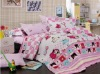 100% cotton animal reactive kids carton bedding set