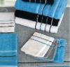 100% cotton bath gloves and towel set