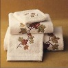 100% cotton bath towel with embroiderey
