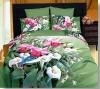 100% cotton beautiful flower bedding sets (Reactive print)