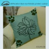 100%cotton blue eco-friendly printed cushion
