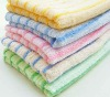 100%cotton color stripped facial face towel