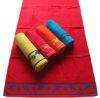 100% cotton double jacquard velour beach towel