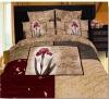 100% cotton elegant reactive print bedding sets