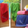 100% cotton embroidered beach towel
