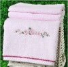100% cotton embroidery solid face towel