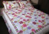100% cotton flower quilted 4 pcs authentic bedding sets