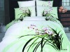 100% cotton green flower bedding sets (Reactive print)