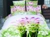 100% cotton green flower bedding sets (Reactive print)