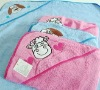 100% cotton hooded towel with embroidery