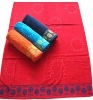 100 cotton jacquard beach towel