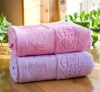 100% cotton jacquard solid terry towel with jacquard border