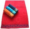 100% cotton jacquard velour beach towel