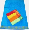 100% cotton jacquard velour beach towel
