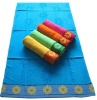 100% cotton jacquard velour beach towel with border