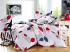 100% cotton latest design bed sheet set