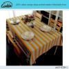 100% cotton orange stripe printed western fitted table linen