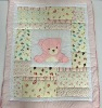100% cotton patchwork baby quilt high quality