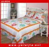 100%cotton patchwork in border and reactive dye printing 3pcs bedding set