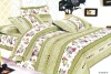 100% cotton peach printed bedding sets
