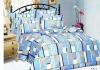 100% cotton peach printed home textile bedding sets